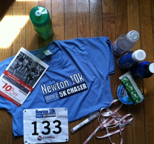 Race swag! Technical t-shirt, water bottle, and refreshments.