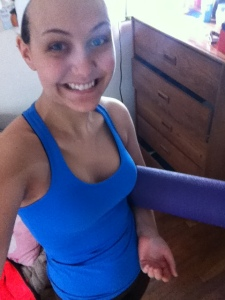 Bad off-to-yoga-class selfies FTW!