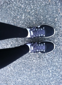 I bought them in black - goes with everything! And I like to be creative/bright with the rest of my fitness ensembles ;)