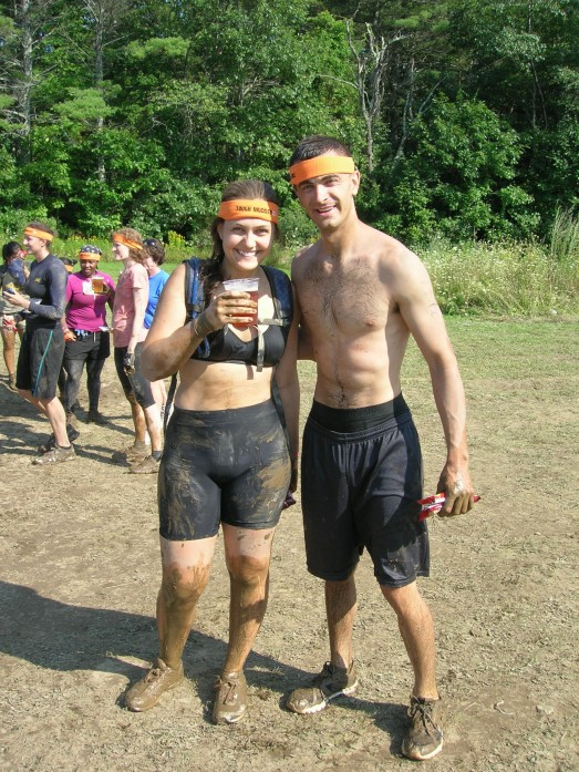 Muddy and scraped up, but grinning ear to ear!