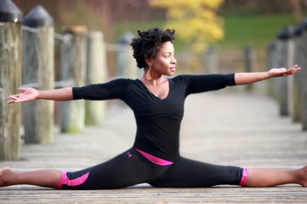 Image of Sariane Leigh practicing via http://thefeministwire.com/2012/10/sisters-of-the-yogic-yam-bell-hooks-and-the-yoga-in-self-recovery/